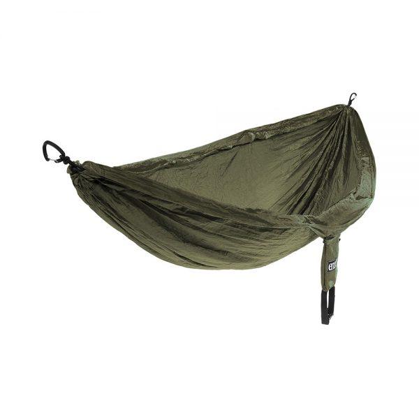 ENO DoubleNest Hammock Olive Lichtgewicht Hangmat